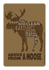 Advice from a Moose Outline Sticker