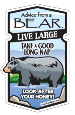 Advice from a Bear - Wood Sticker