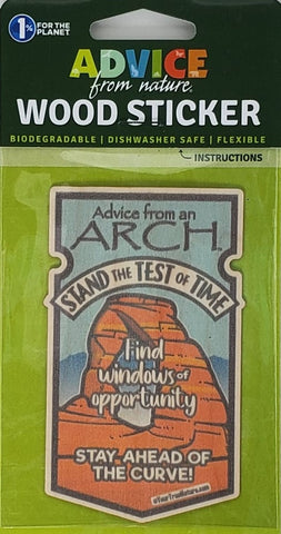 Advice from an Arch - Wood Sticker