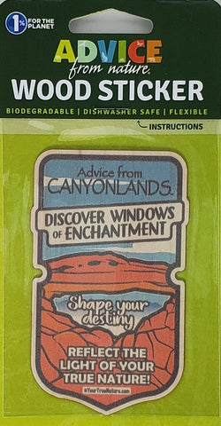 Advice from Canyonlands - Wood Sticker
