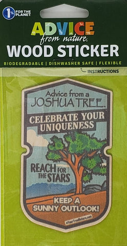 Advice from a Joshua Tree - Wood Sticker