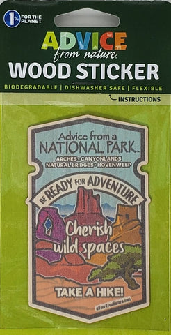 Advice from a National Park - CNHA Wood Sticker