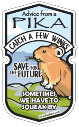 Advice from a Pika - Wood Sticker