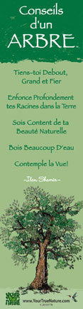 Advice from a Tree - Translated in French - Laminated Bookmark