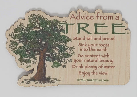 Advice from a Tree - Wood Sticker