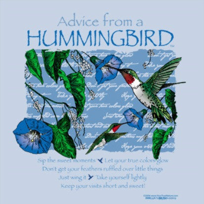 Advice from a Hummingbird T-Shirt - Ladies Cut
