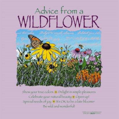 Advice from a Wildflower T-Shirt - Ladies Cut
