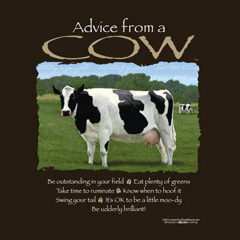 Advice from a Cow T-Shirt