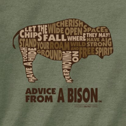 Advice from a Bison Outline T-Shirt