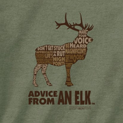 Advice from an Elk Outline T-Shirt