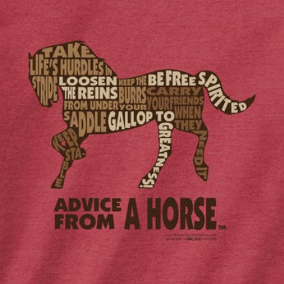 Advice from a Horse Outline T-Shirt
