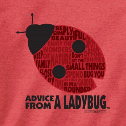 Advice from a Ladybug Outline T-Shirt