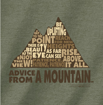 Advice from a Mountain Outline T-Shirt