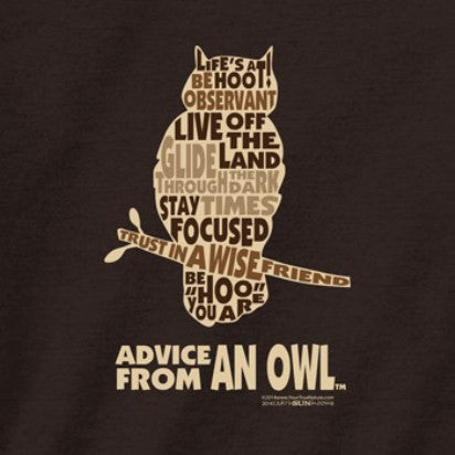Advice from an Owl Outline T-Shirt