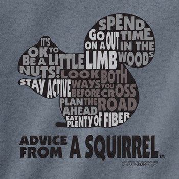Advice from a Squirrel Outline T-Shirt