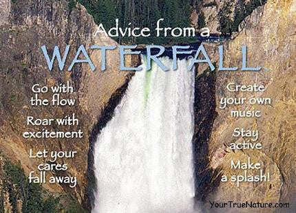 Advice from a Waterfall - Yellowstone National Park Jumbo Magnet