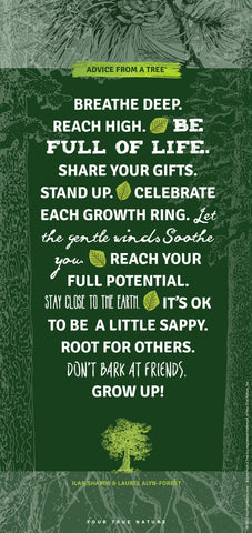 Advice from a Tree - Anniversary Wood Sign