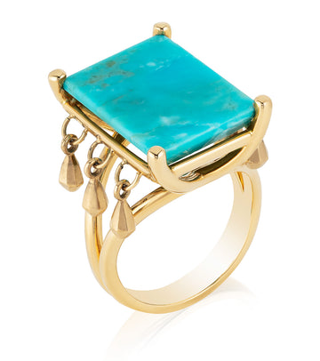 GoldDrop Mirror Ring