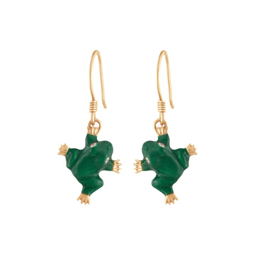 SET OF 2 FROG HOOK EARRINGS