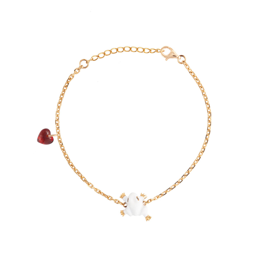 FROG BRACELET WITH HEART CHARM