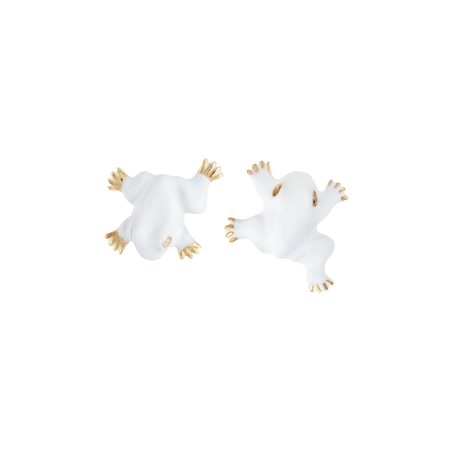 SET OF 2 FROG STUD EARRINGS