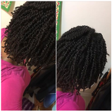 Twist out Two strand twist with hair pomade for coarse hair