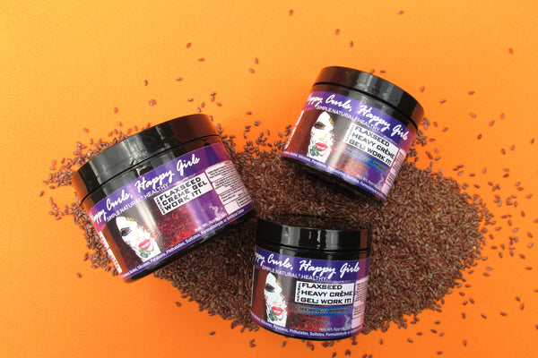 Natural Flaxseed Heavy Crème Gel: Work it!