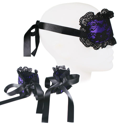 MasterKink Plush Mask with Cuffs