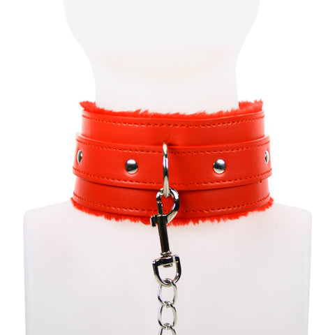 MasterKink Red Collar and Leash