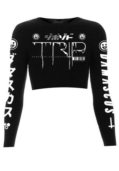 Trip Longsleeve Crop Top