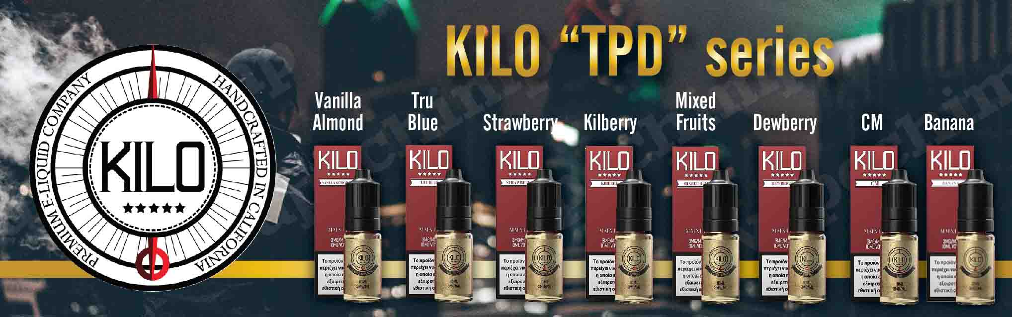 KILO USA VAPE. GREECE CYPRUS WHOLESALE TPD VAPECHIMP