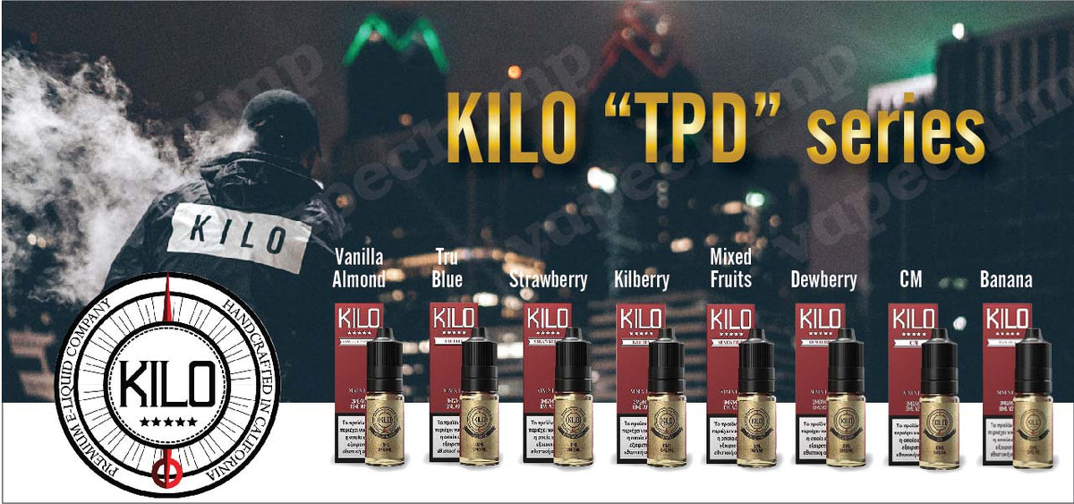 KILO E-LIQUIDS USA PREMIUM VAPE 10ML GREECE CYPRUS WHOLESALE