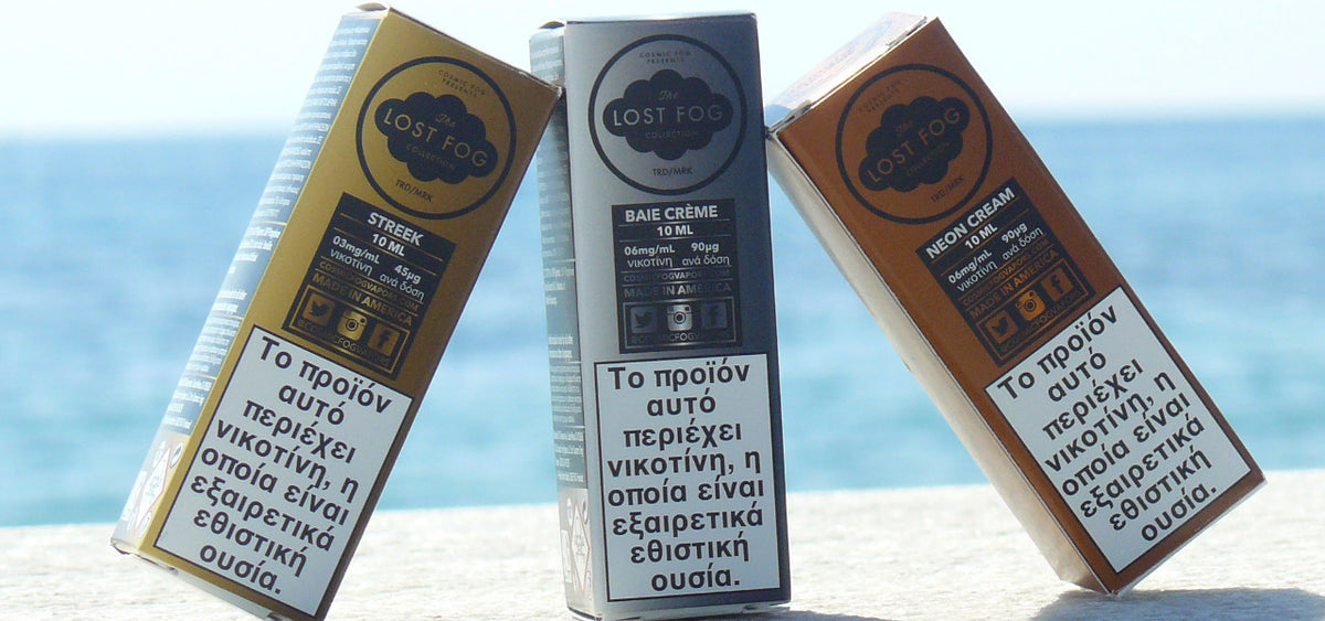 THE LOST FOG COLLECTION E-LIQUIDS USA PREMIUM VAPE 10ML GREECE CYPRUS WHOLESALE