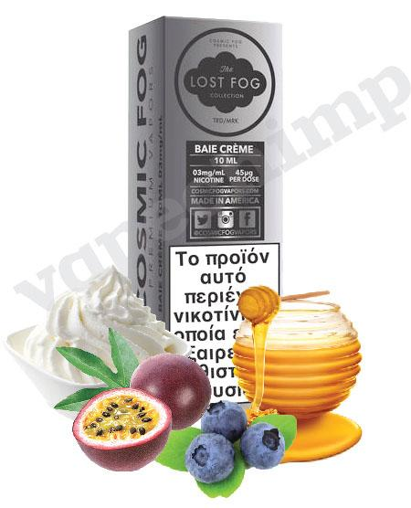 BAIE CRÈME (Lost Fog) Passion Fruit, Berries & Honey Whipped Cream 60ml (6 * 10ml TPD Bottles) :- VapeChimp - GREECE & CYPRUS E-liquid Wholesale