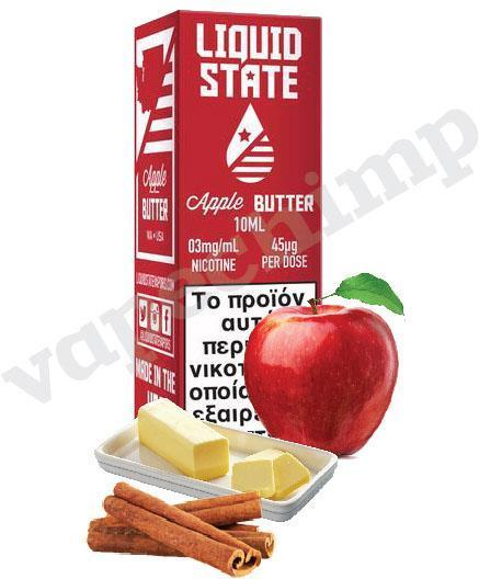 APPLE BUTTER (Liquid State) 12mg, Apple & Cinnamon - 60ml (6 * 10ml TPD Bottles) :- VapeChimp - GREECE & CYPRUS E-liquid Wholesale