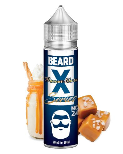 No. 24 - BEARD X - Salted Caramel & Malted Barley BEARD Flavor Shots - 60ml :- VapeChimp - GREECE & CYPRUS E-liquid Wholesale