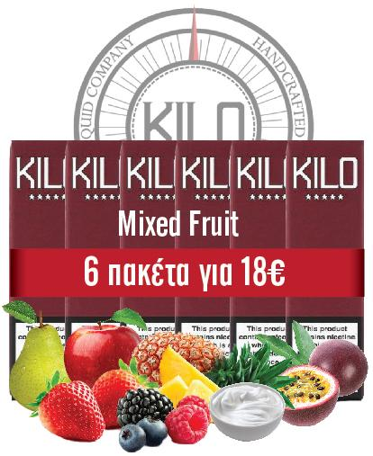 MIXED FRUIT (Kilo) Apples, Pears, Mixed Berries, Mangoes, Passion Fruit, Pineapples & Cream 10ml TPD - 60ml (6 * 10ml TPD Bottles) :- VapeChimp - GREECE & CYPRUS E-liquid Wholesale