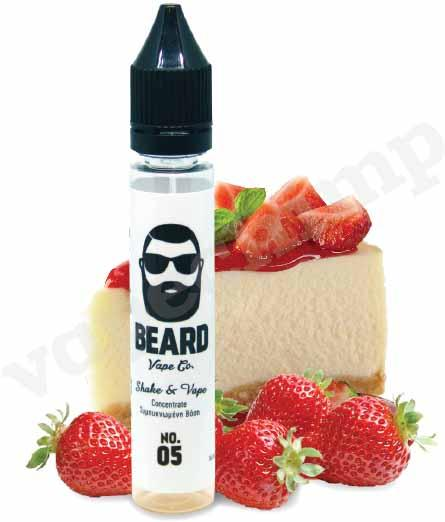 No. 05 - Strawberry Cheesecake  by BEARD VAPE CO. MIX & VAPE - 30ml :- VapeChimp - GREECE & CYPRUS E-liquid Wholesale