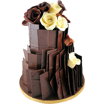 Chocolate Slab Three Tier