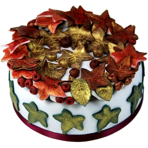 Christmas Holly-Berry Wreath Cake - KimBeAu