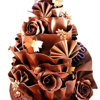 Chocolate Wrapped Three Tier Cake