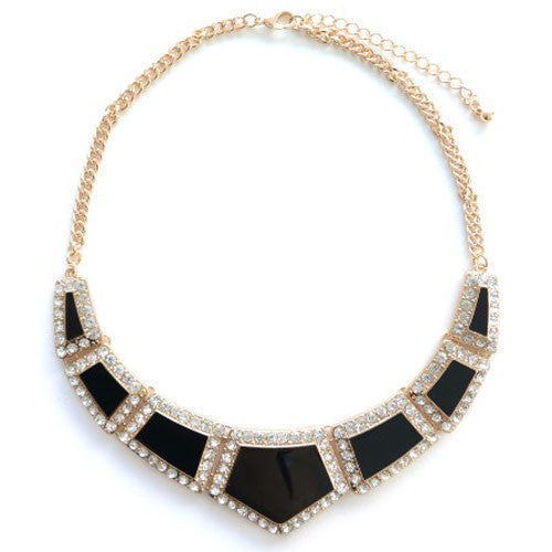 Black Diamond Triangle Necklace
