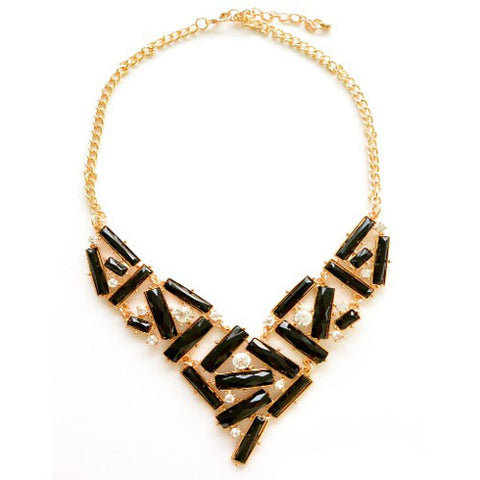 Black Stacked Necklace