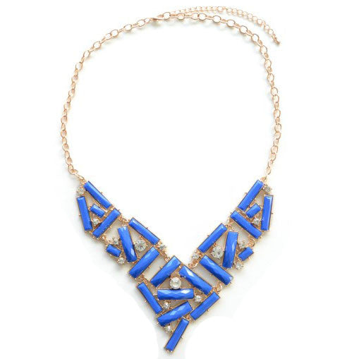 Blue Stacked Necklace