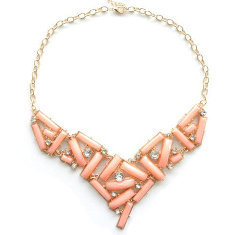 Coral Stacked Necklace