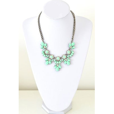 Floral Mint Green Necklace