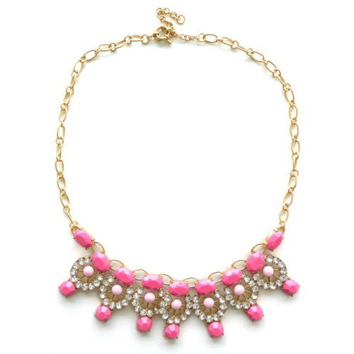 Pink Gem Stone Necklace