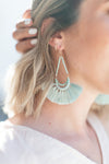 CALLA TEARDROP TASSEL EARRINGS | MINT
