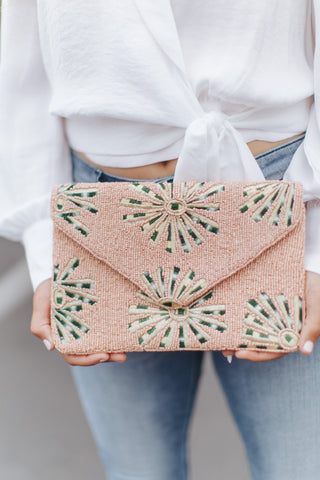 Caelin Beaded Clutch