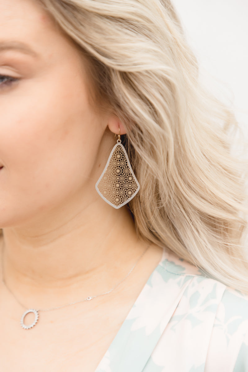 Valerie Floral Cutout Earrings